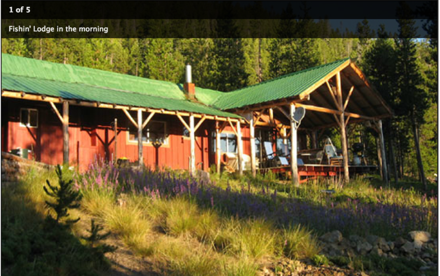 Cabin where we'll share meals at Giant Loop's 2017 Volcano Camp.
