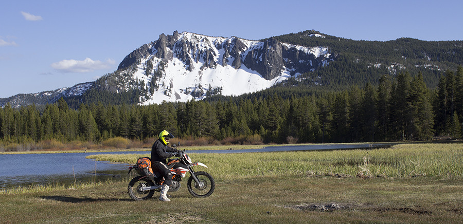 Newberry National Volcanic Monument Paulina Lake with Paulina Peak in background.