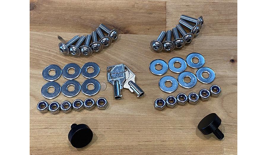 gl pannier mounts hardware kit