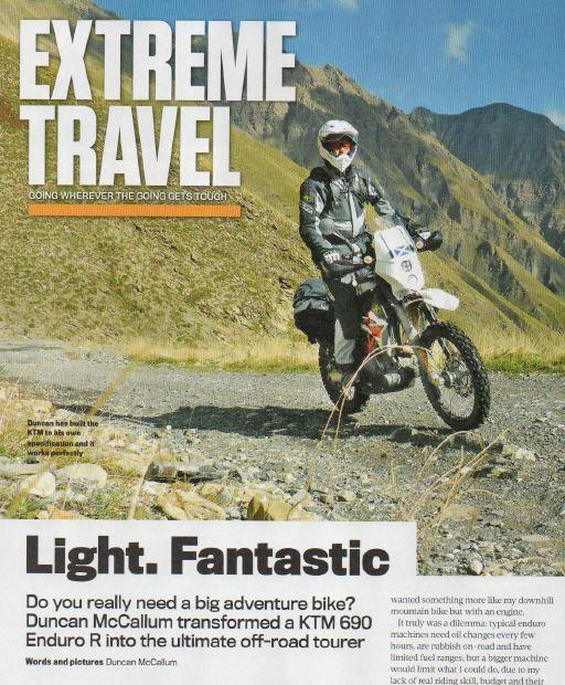 Giant Loop Moto luggage in Ride Magazine