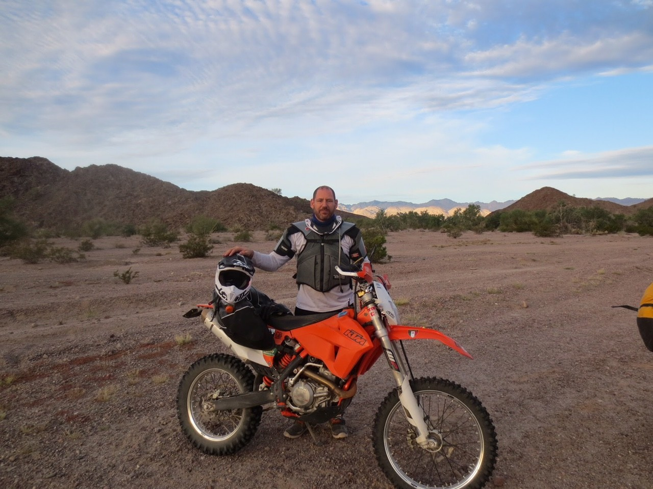 KTM 500 EXC in Baja with Giant Loop's Coyote Saddlebag