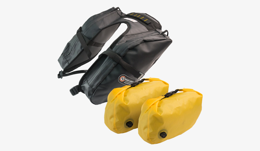 Mojavi Saddlebag Dry Pods shown with Mojavi Saddlebag