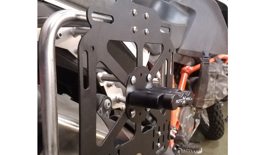 Giant Loop Pannier Mounts on KTM 1090 with Rotopax Standard mount