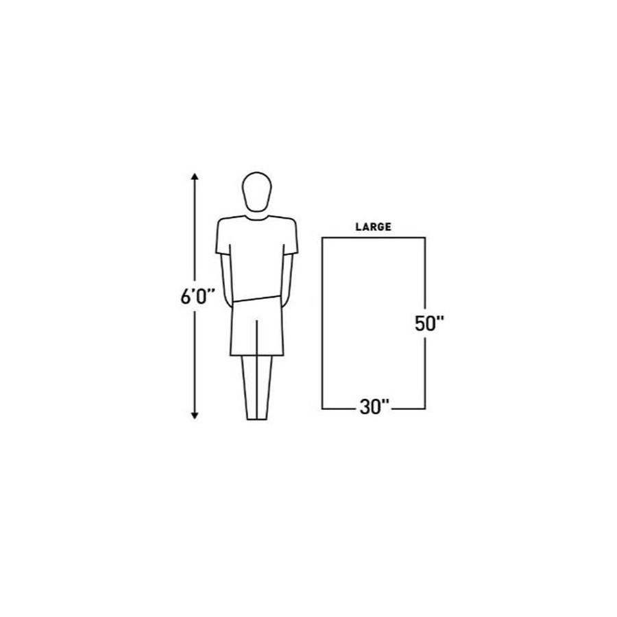 Gear Aid Ultra Compact Microfiber Towel Sizing