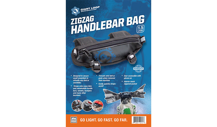 Giant Loop Snow Zigzag Handlebar Bag