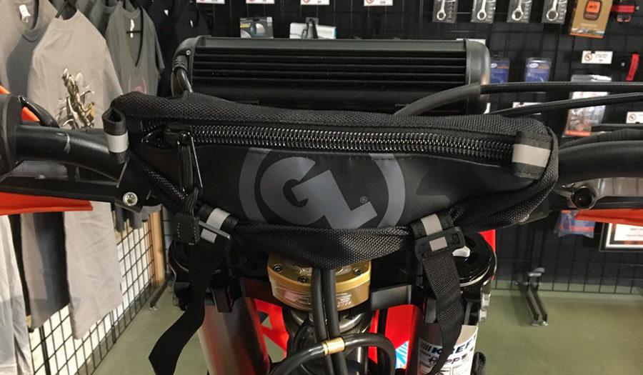 Zigzag Handlebar Bag on KTM Timbersled