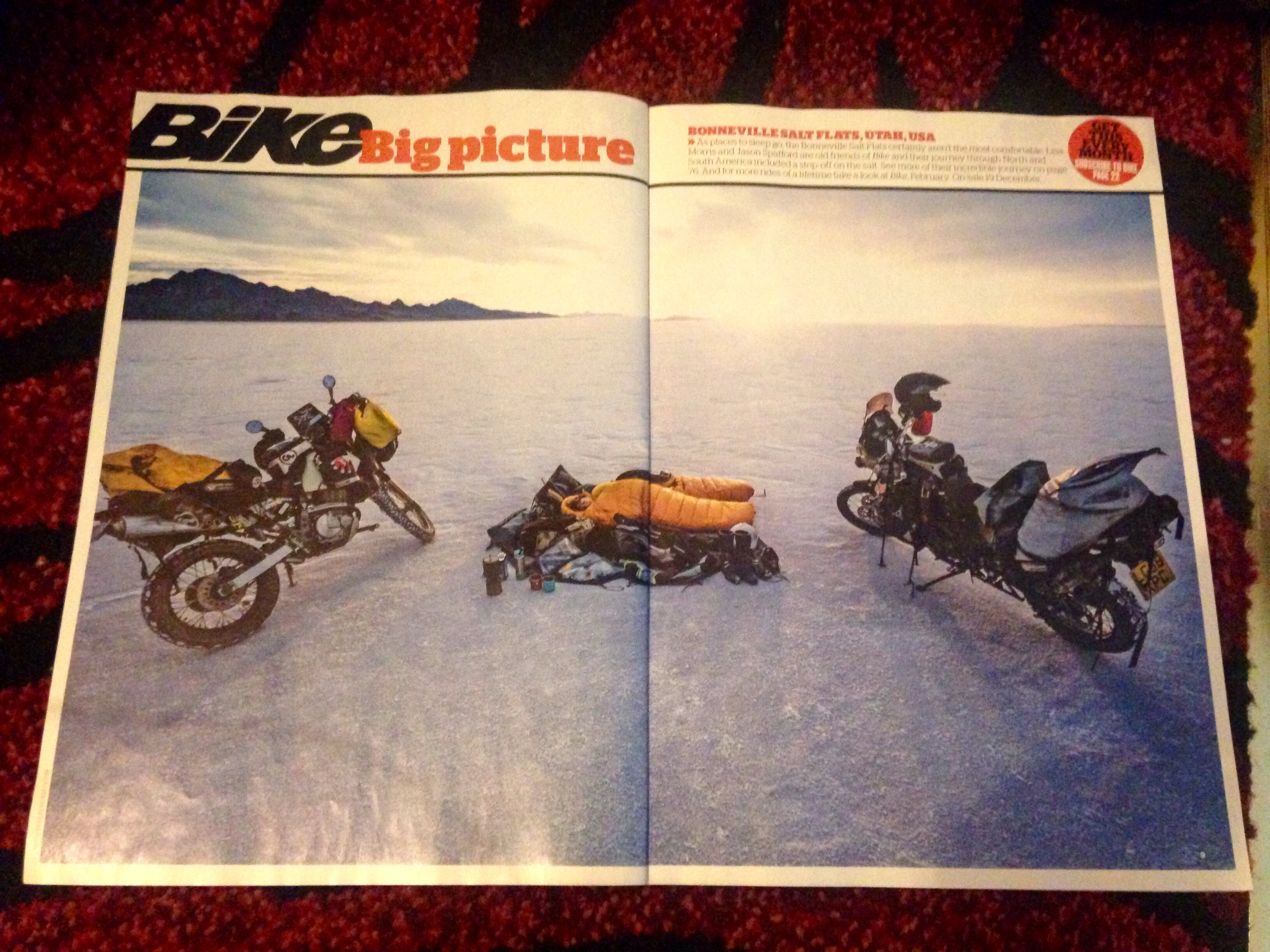 Two Wheeled Nomad in BIKE magazine