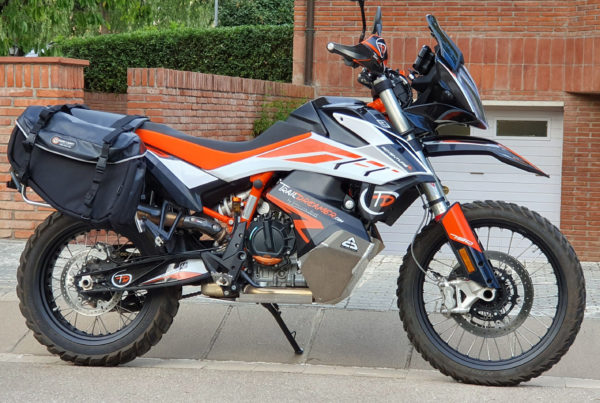 Siskiyou Panniers Mounted on KTM 790 Adventure R with Side Luggage Racks