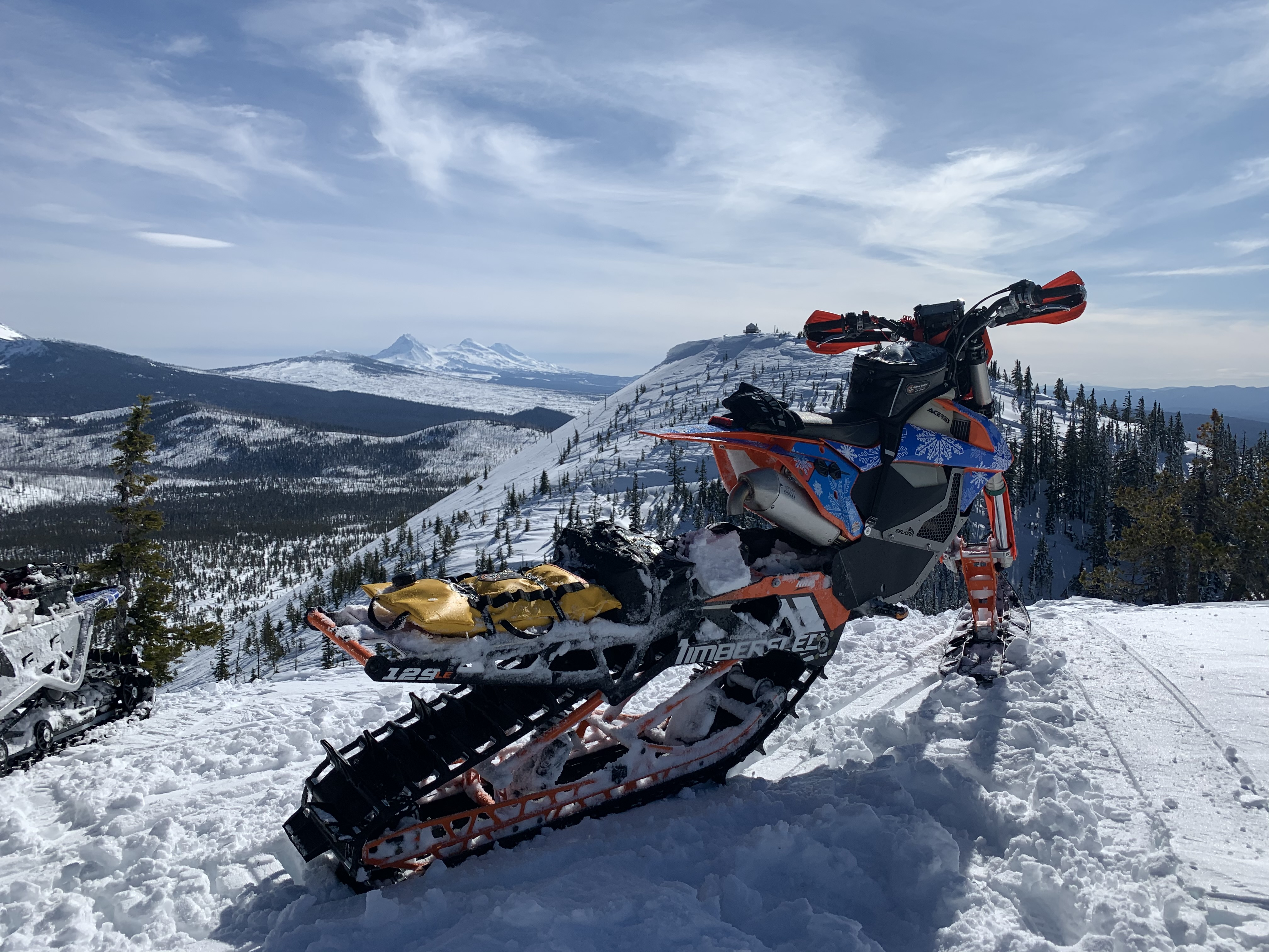 Oregon's Cascades on a KTM 450 SX with Giant Loop Bags