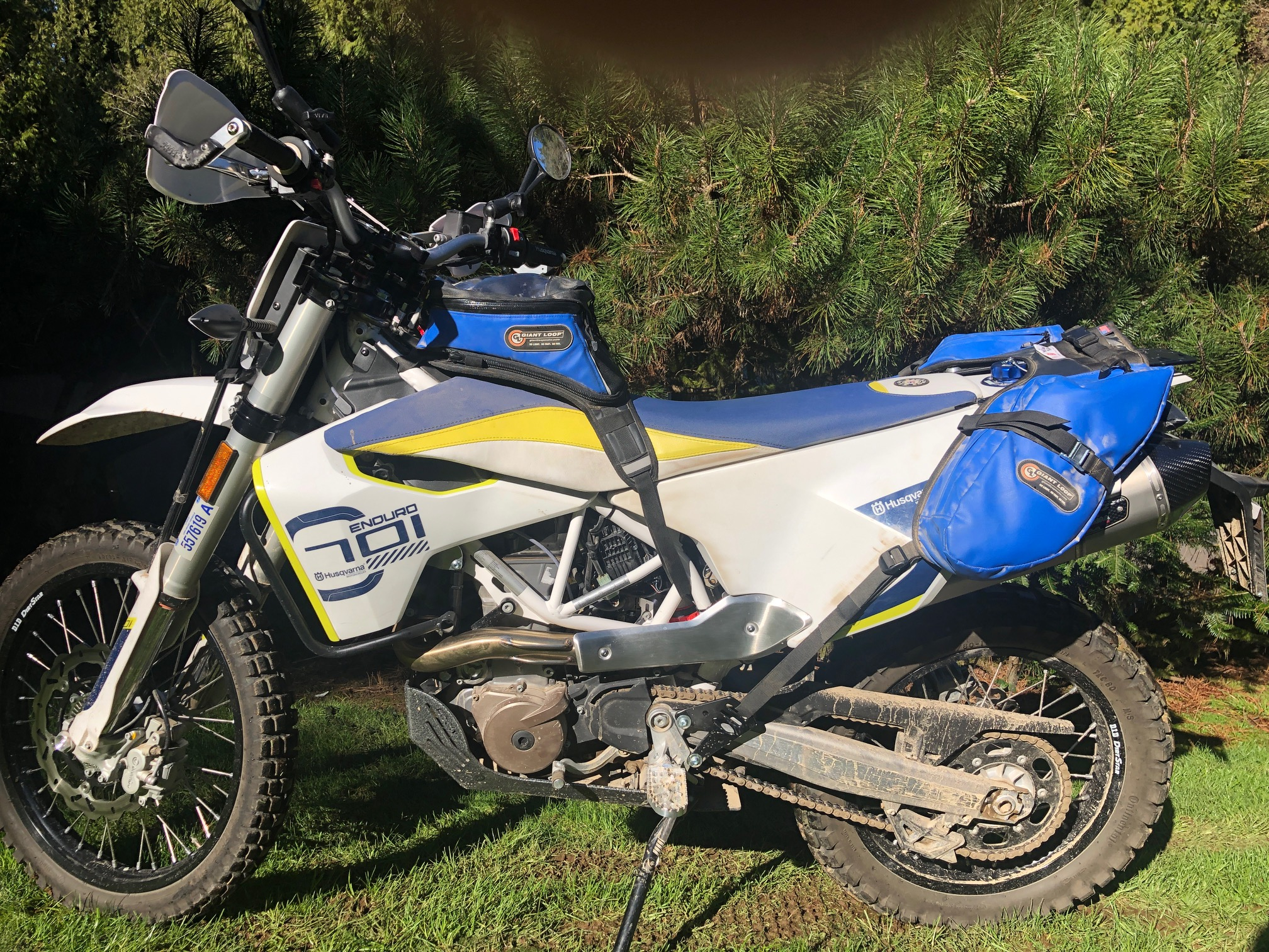 Husqvarna 701 With Diablo Tank Bag and MoJavi Saddlebag