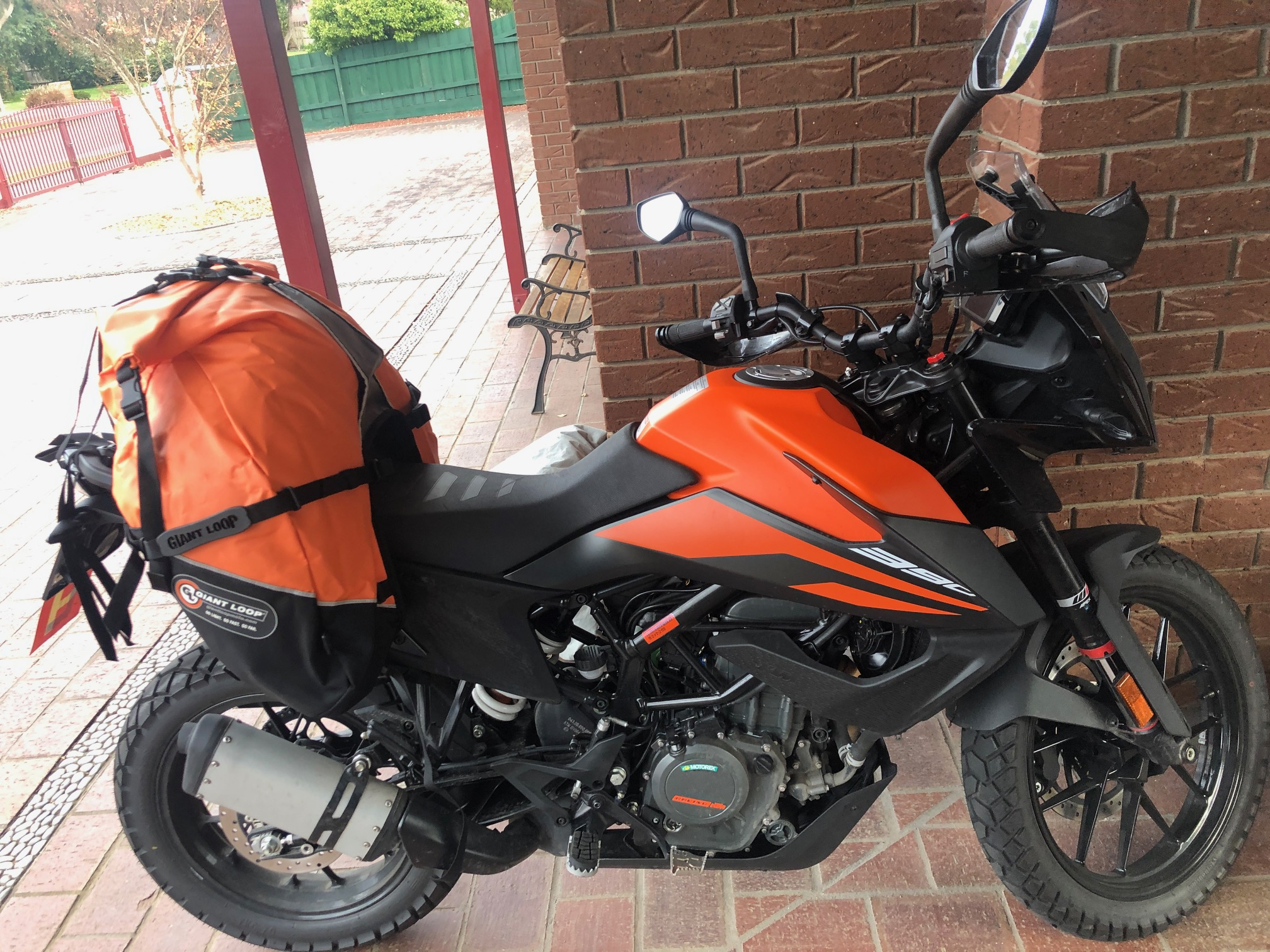 KTM 390 Adventure with Great Basin Saddlebags