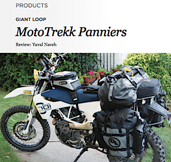 RoadRUNNER Reviews GL's MotoTrekk Panniers