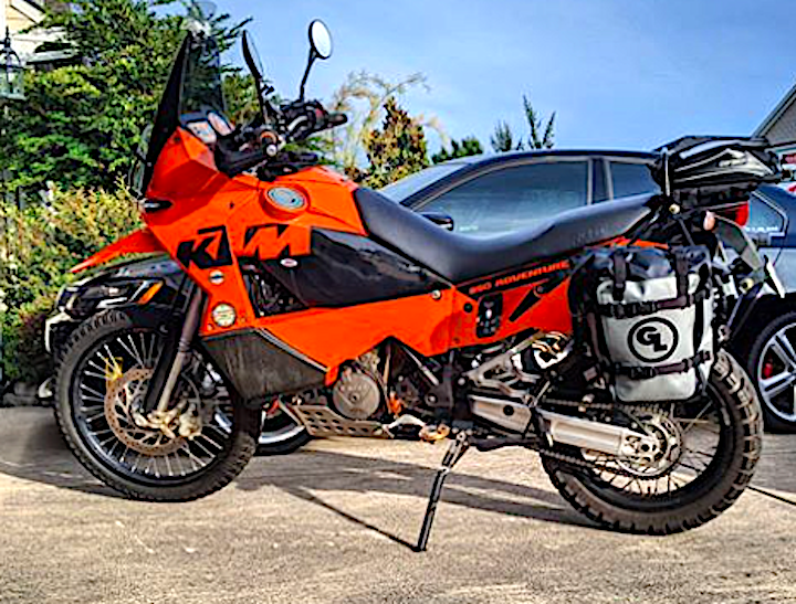 The Legendary KTM 950 Adventure with MotoTrekk Panniers