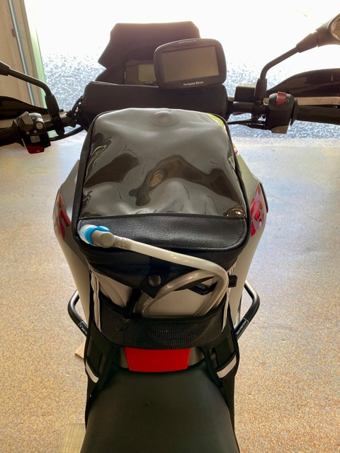Diablo Tank Bag on the BMW 310GS