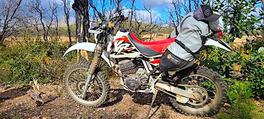 Coyote Bag on a Honda XR600