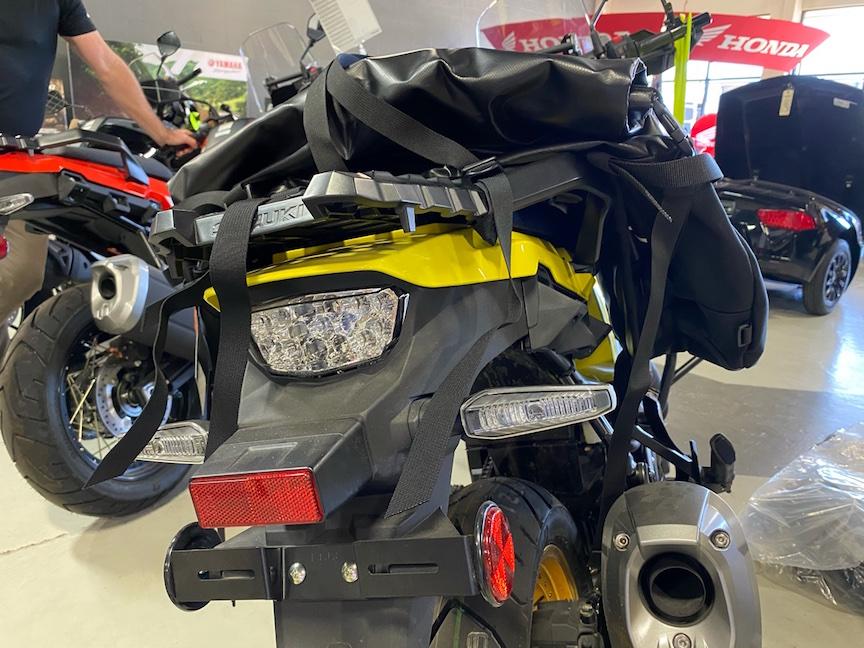 GL Siskiyou Panniers and Great Basin Saddlebag on a Suzuki V-Strom 1050