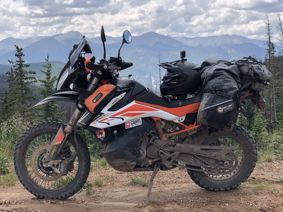 Riding the Rockies With Great Basin Saddlebags, Pannier Pockets, Rogue Dry Bag and Zigzag Handlebar Bag