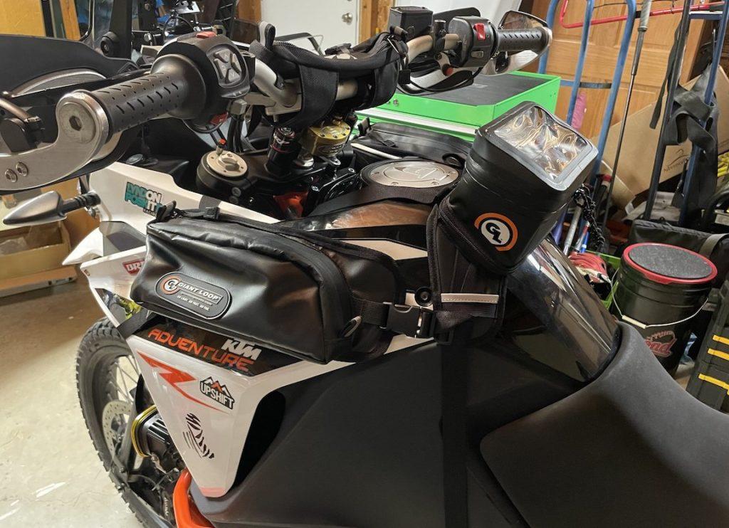 GL Buckin' Roll, Zigzag and Pannier Pockets on a KTM Adventure