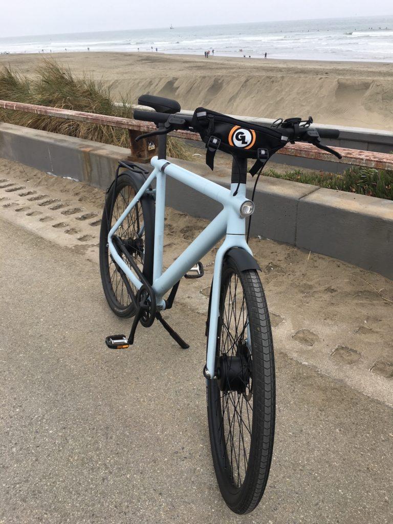 Zigzag Handlebar Bag on Electric Bikes