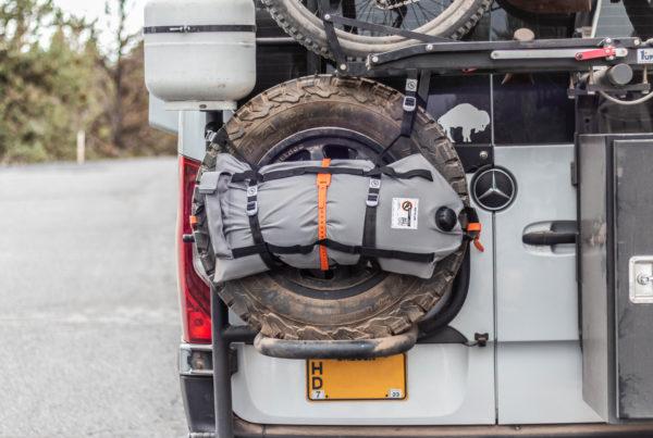 5 gallon Armadillo Bag on spare tire